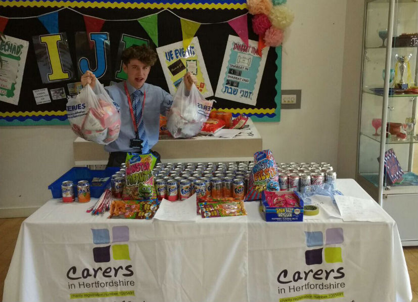 Yavneh College students set up a tuck shop for the Dragon's Apprentice business challenge