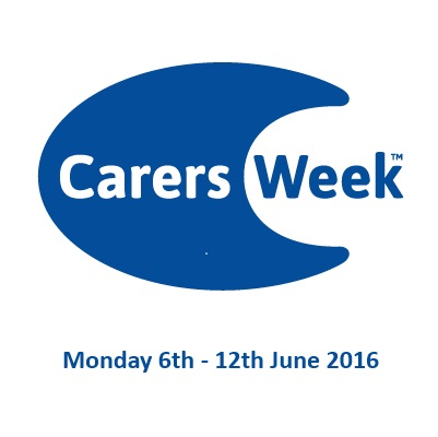 Carers Week logo with date 16