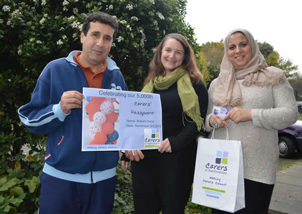 Mr Rabah Gana receives our 5000th Carers' Passport