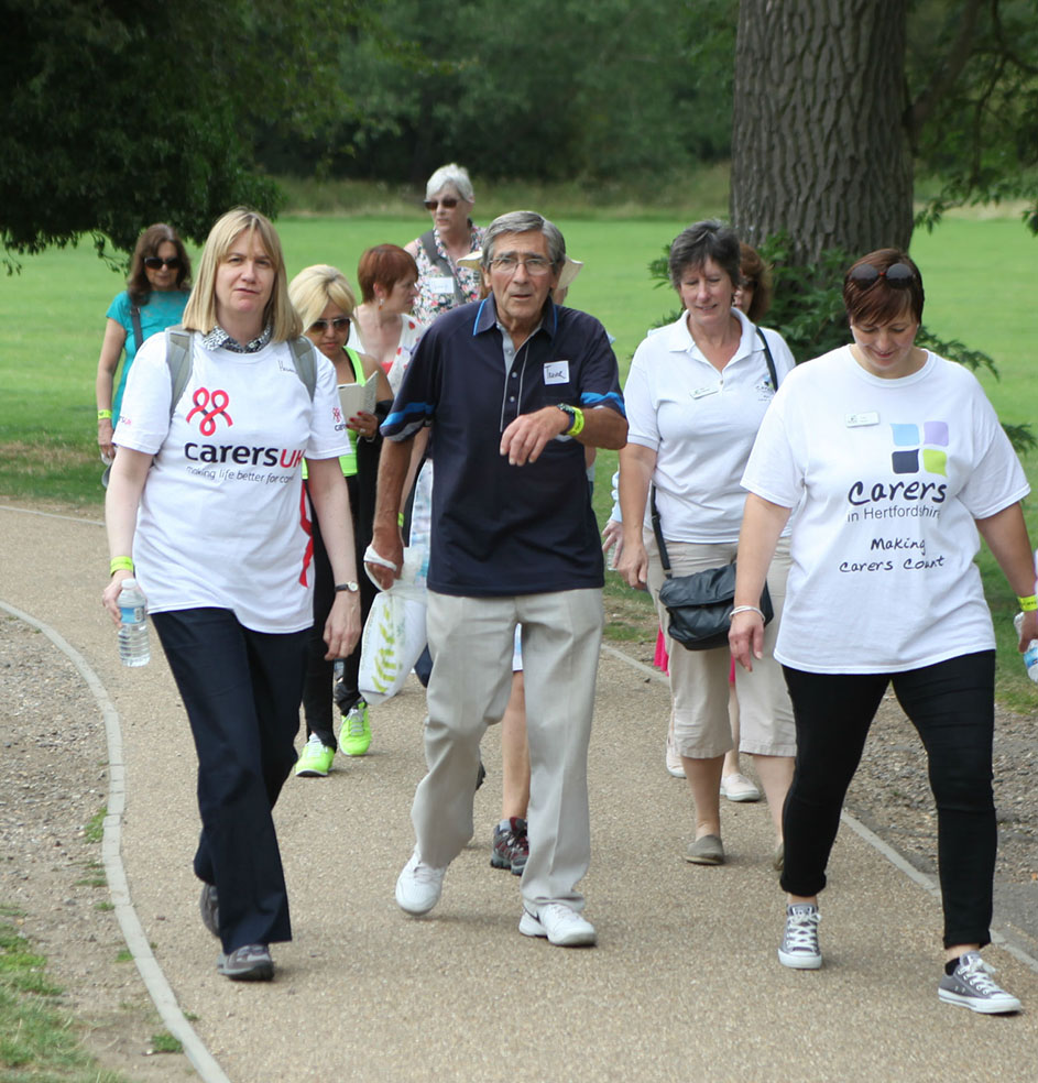 The Carers in Hertfordshire Walk in the Park in Verulamium Park, St Albans