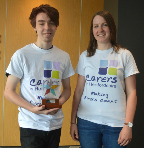 Young carer wins award web