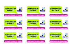 Remember carers stickers