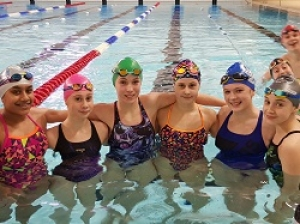 Youngsters from Verulam Amateur Swimming Club at the sponsored swim for Carers in Hertfordshire