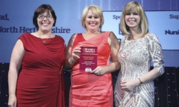 Nurse has her commitment to carers recognised with national award