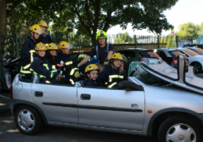 Young Carers find out about being a Firefighter