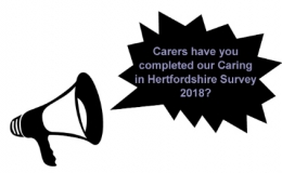 Calls for carers to complete Caring in Hertfordshire image