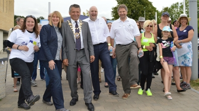 Carers enjoy celebratory walk in the park